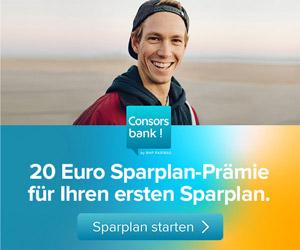 Sparplan bei der Consorsbank