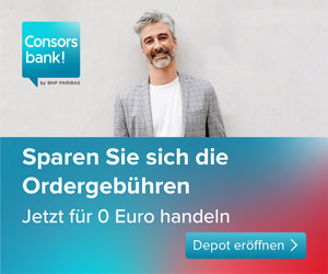 Consorsbank - Trading ab 3,95 Euro für volle 12 Monate.