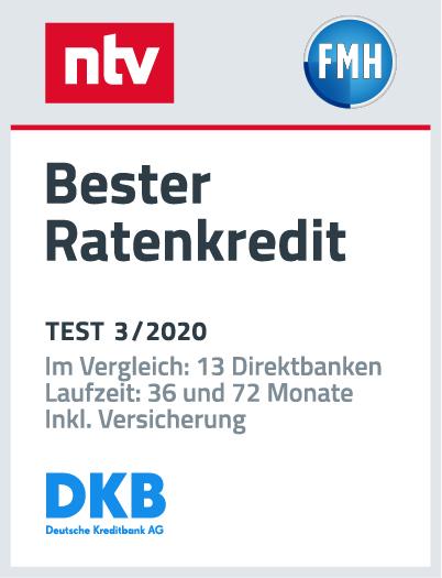 DKB Ratenkredit ntv Siegel