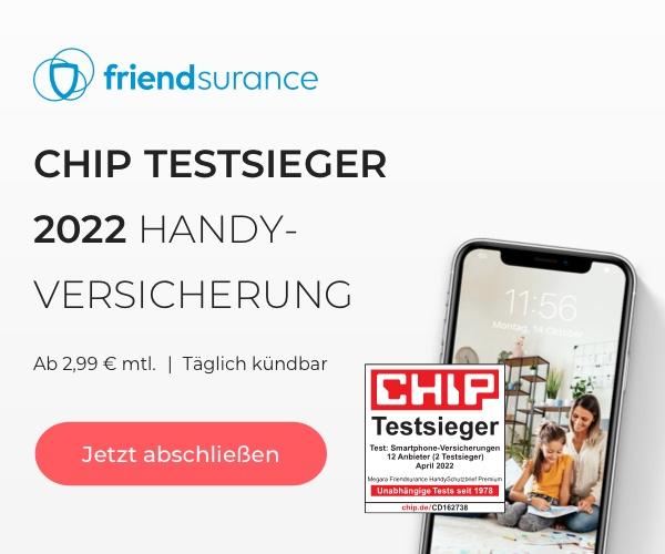4x CHIP TESTSIEGER Handyversicherung_600x500