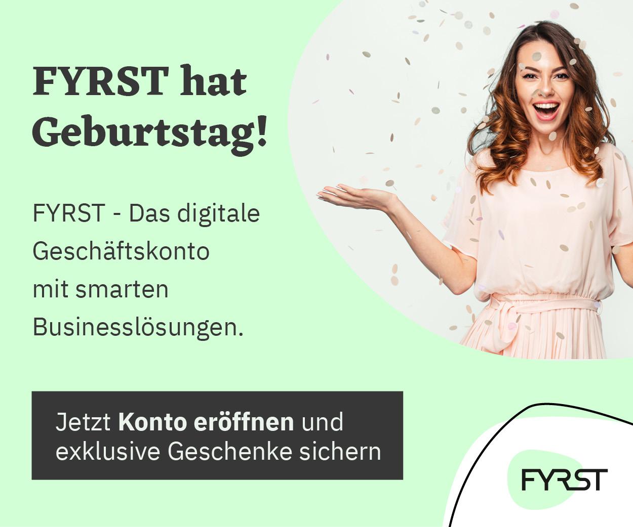 Fyrst - Das digitale Geschäftskonto für Gründer und Freelancer