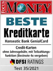 Testsiegel: Focus Money - Beste Kreditkarte 2019