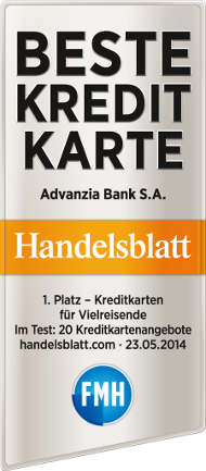 Advanzia Bank Testsiegel Handelsblatt