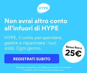 HYPE Conto corrente HYPE