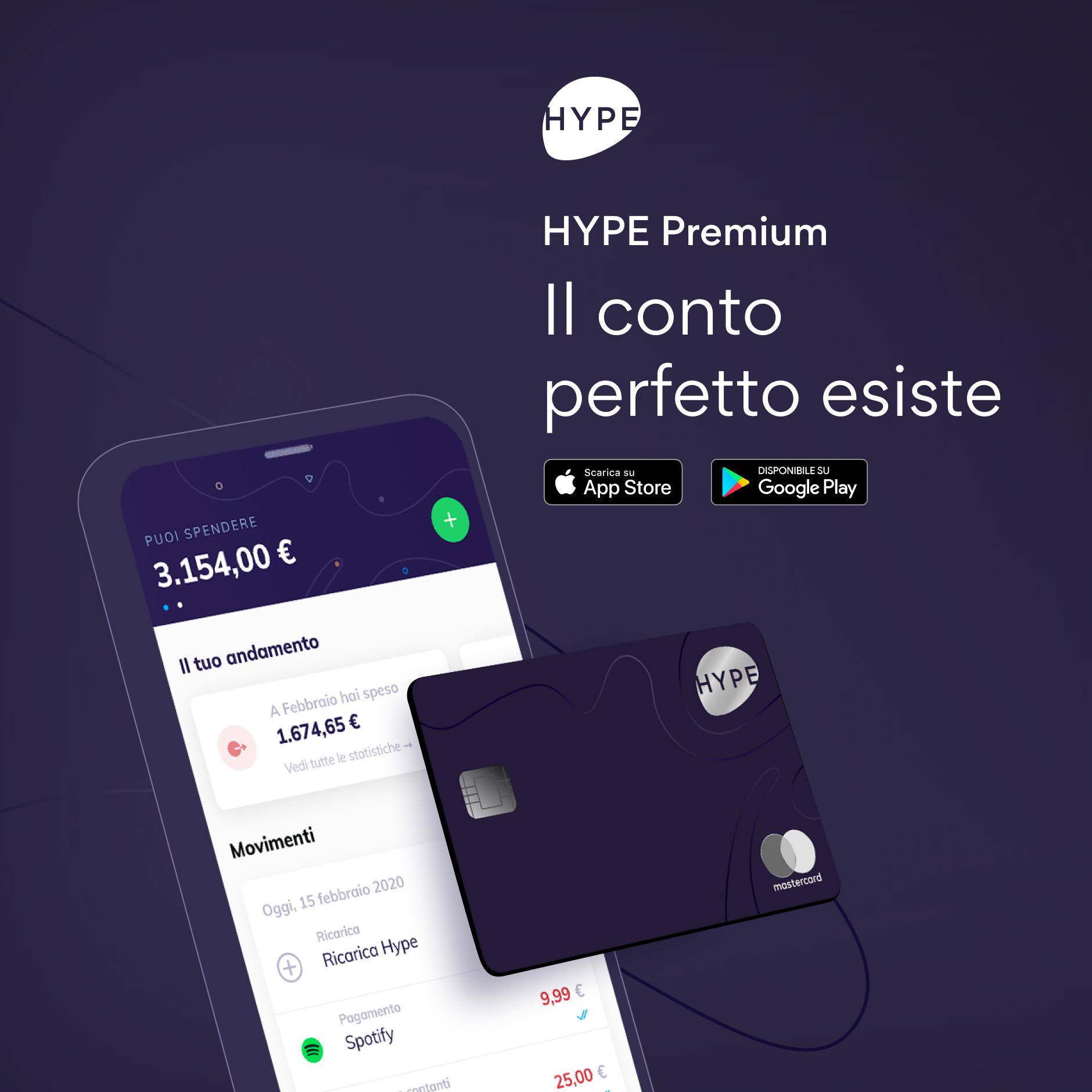 tb Hype Premium carta e conto: opinioni e costo