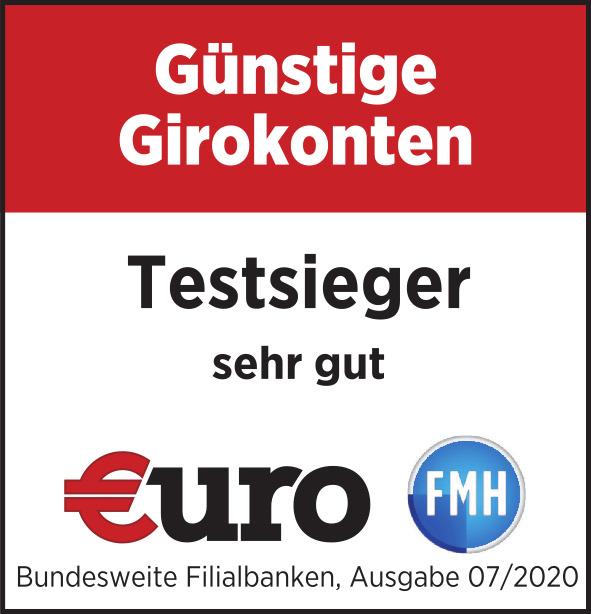 HVB Testsieger - sehr gut - Günstige Girokonten - EURO FMH