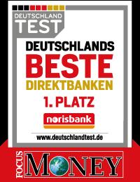 Testsieger norisbank Girokonto
