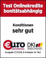 Norisbank Ratenkredite Testsieger Siegel Euro am Sonntag