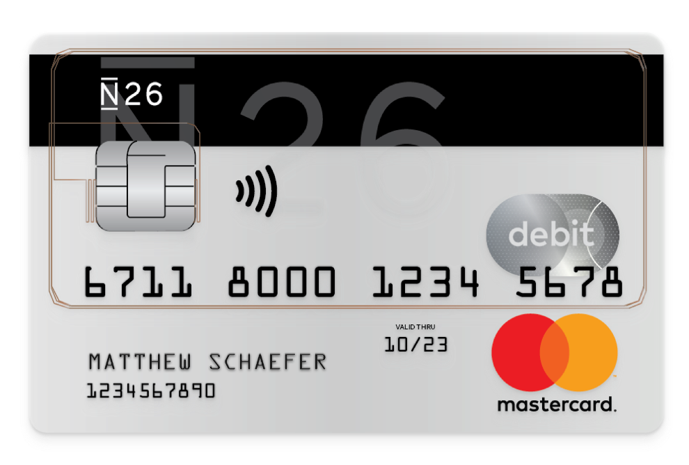 Mastercard Kreditkarte - kontakloses Bezahlen Symbol