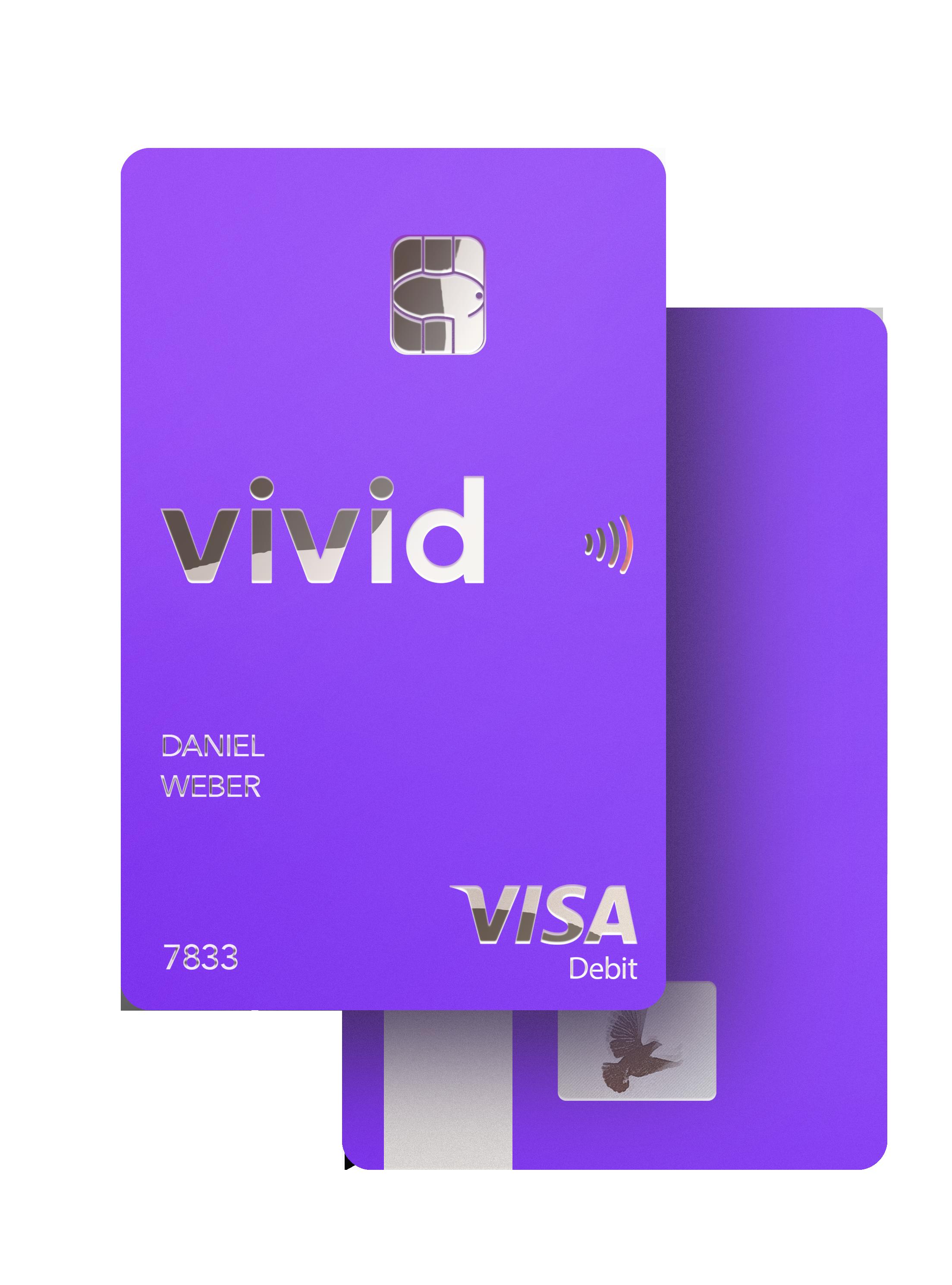 Kostenloses Girokonto und Vivid Debit Visa Karte